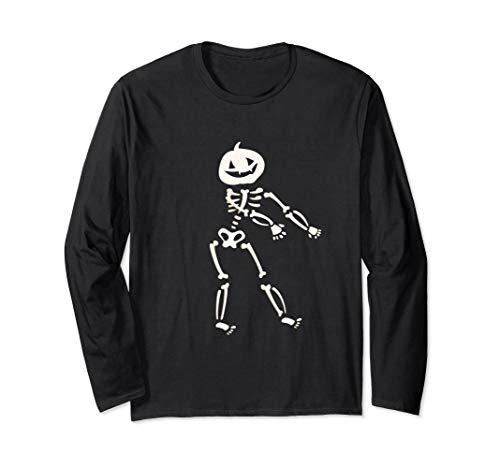 Skeleton Floss Dance Pumpkin Head Vampire Ghoul Long Sleeve T-Shirt ()