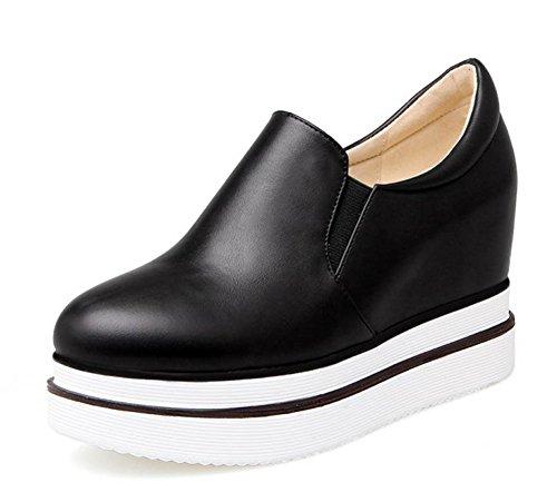 Confortable Sneakers Aisun À Compensé Enfiler Plateforme Talon Noir Femme AT5fxwC5q