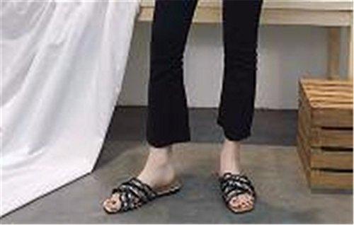 Plano Señora Libre Verano Gaoqiangfeng Black De Zapatillas Patin Fondo Con Al Aire TvwxqF7