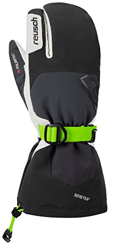 Reusch Snowsports Lech Pro Gtx Plus GORE Grip Tech Lobster ski glove, Black/White, - Glove White Gore