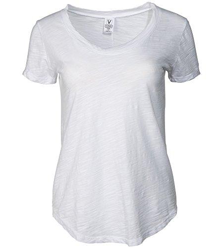 Venley Women's Premium Slub Crew Neck T-Shirt (Slub T-shirt Crewneck)