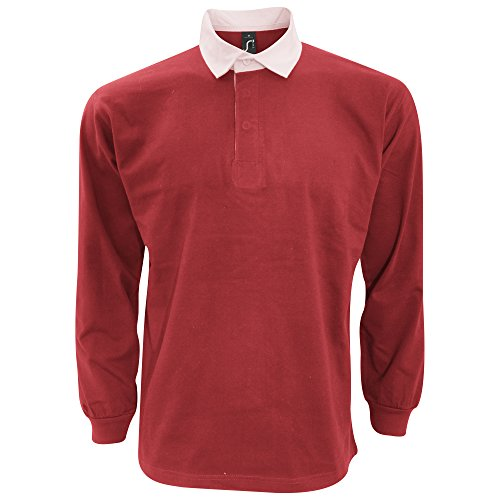 Red Polo Shirt With White Collar: Amazon.com