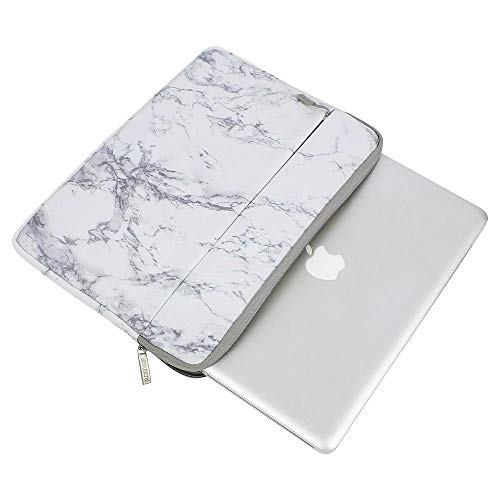 Pearlshop Soft Laptop Sleeve Bag for MacBook Dell HP Asus Acer Lenovo Surface Notebook Air/Pro 11 13 14 15 Inch Canvas Cover White Marble (Color : White Marble, Size : 11 inch)
