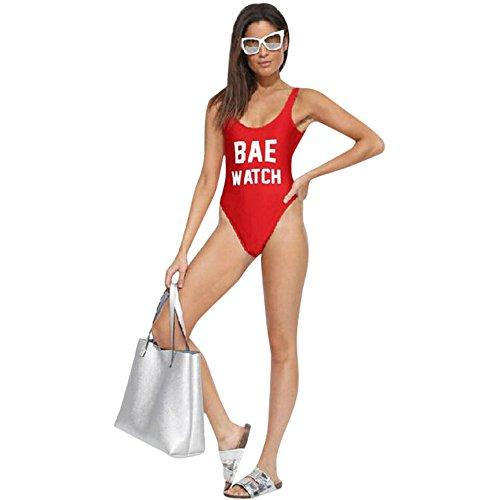 LHWY Las Mujeres BAE Backless Reloj Traje de Baño Body Ropa de Playa
