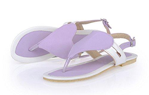 Sandali Infradito Flat A Forma Di Cavigliera Da Donna Aisun Comoda E Morbida Color Viola