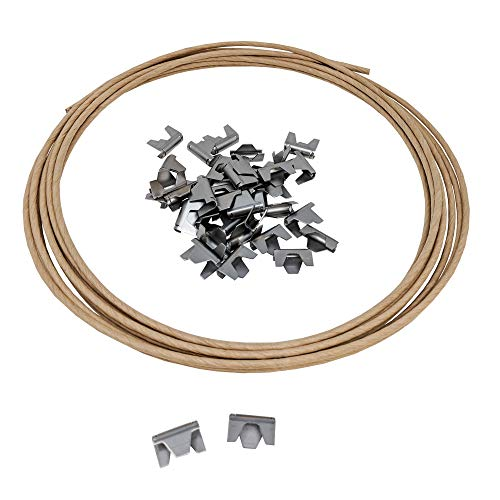 - Wholesale Upholstery Supply Spring Repair Kit 16 Gauge Paper Wrapped Wire w/Sofa Furniture Stay Clips- 40 Clips, 20ft of Wire