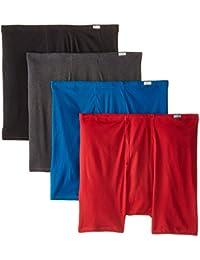 Men's 4-Pack FreshIQ Comfortsoft Extended Sizes Boxer Briefs