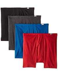 Hanes Red Label Men's Comfortsoft Extended Sizes Boxer Briefs (4-Pack)