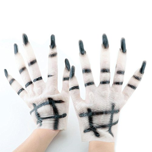 METFIT 1 Pair Halloween Gloves Halloween Costume Cosplay Accessories Gloves (Costume Contest Halloween 2017)