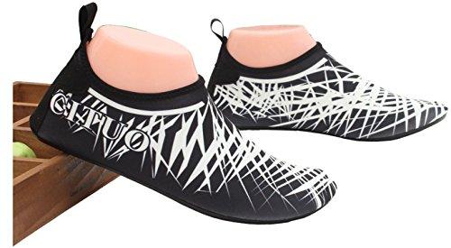 Barefoot Schuhe für Yoga Water und Unisex Park Strand Spazierengehen Garten Strandpool ECOTISH Swim Surfen zum Schwarz Aqua Schwimmen Damen Bootfahren Socks Fahren Herrenschuh Shoes See 8xq0xIPfp