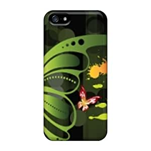 Great Hard Phone Covers For Iphone 5/5s With Unique Design Colorful Butterfly Pictures LauraFuchs
