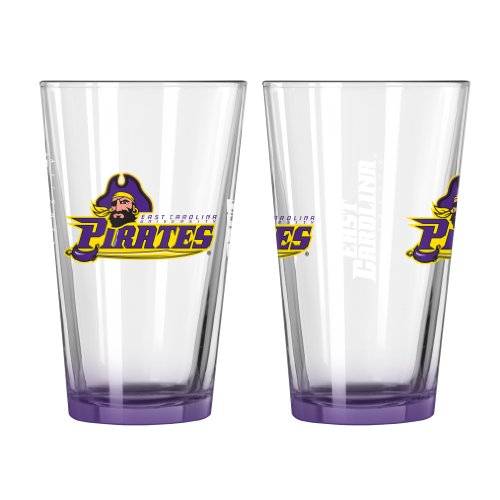 irates Elite Pint Glass Set, 16-ounce, 2-Pack (East Side Glass)