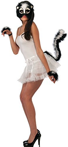 Forum Novelties Women's Skunk Costume Accessory Kit, Black/White, One Size (Skunk Costume Adult)
