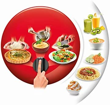 Moulinex Robot Cuisine Multifonctions Easy Force Robot Cuisine Bol 2,4L 5 Accessoires 20 Fonctions 1100W Blanc FP244110