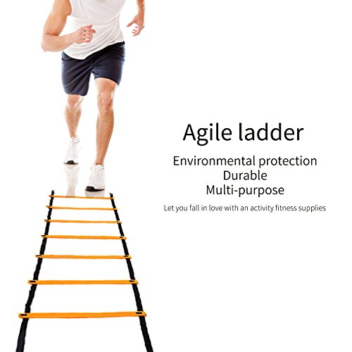 Agility Ladder, OUTAD 15ft Original Quick Ladder, Flat Rung Agility and Acceleration Training, Develop Explosive Power, Speed, Improve Coordination, Strength and Physical Dexterity