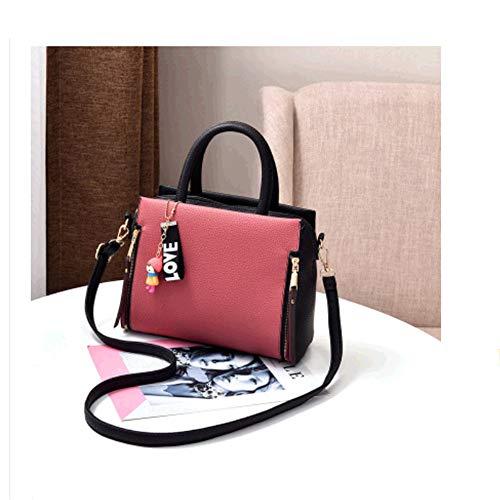 GTMLG Cuir Japonais Pink Sac Style Bandoulière Style Version en Tide À Femelle Européen Bandoulière Détachable Main De Sac De Coréenne H7YwHZqr