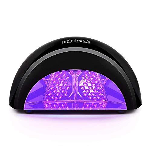 MelodySusie LED Nail Dryer Nail Lamp Curing LED Gel Nail Polish, Professional Nail light for Nail Art at Home and Salon (Black) (Best Gel Nail Polish To Use At Home)