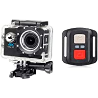 ESCENERY New Full HD 1080P 32G WIFI H16R Action Sports Camera Camcorder Waterproof+Remote+1200 Million High-Definition Wide-Angle Lens. (Black)