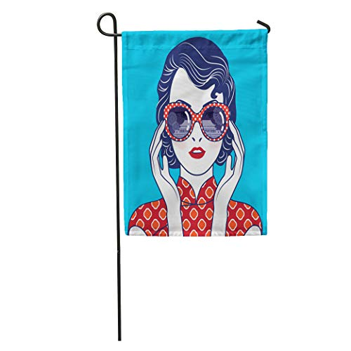 (Semtomn Garden Flag Reflection of Imperial Palaces The Ming Dynasties in Glasses Chinese Home Yard House Decor Barnner Outdoor Stand 12x18 Inches Flag)
