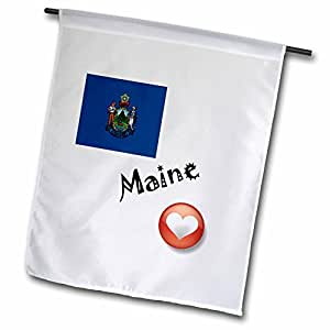 SmudgeArt State Flags for the USA - I Love Maine - 18 x 27 inch Garden Flag (fl_7187_2)