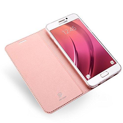 Huawei Y5 2017 Funda carcasa / caso / case, KuGi ® Huawei Y5 2017 Funda- BW estilo de alta calidad caja ultrafina de la PU del soporte para Huawei Y5 2017 teléfono inteligente.(Azul) Oro rosa