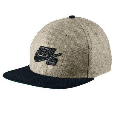 NIKE Mens SB S+ Raw Canvas Pro Snapback Hat