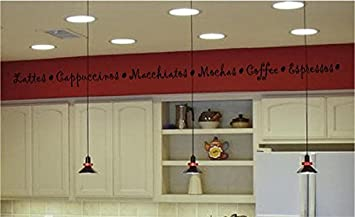 Amazoncom Coffee Kitchen Border Decal Vinyl Decal Wall Sticker - Vinyl wall decals borders