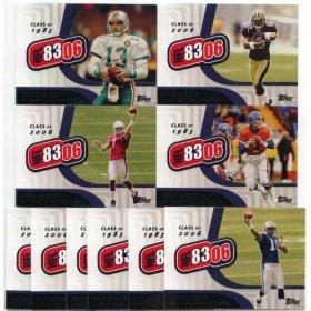 "2006 Topps Football ""8306"" Complete Mint 10 Card Insert Set Featuring Reggie Bush, Dan Marino, Vince Young, John Elway, Jay Cutler, Jim Kelly, Matt Leinart and More!"