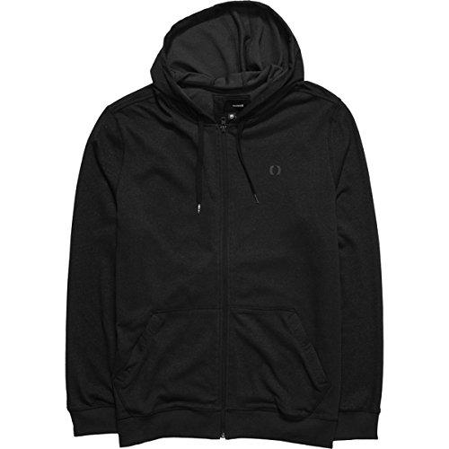 Hurley Men's Dri Fit Zip up Sweatshirt, Black, X-Large