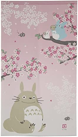 Studio Ghibuli Totoro Noren Curtain Tapestry Spring Dance of the Sakura