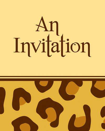 Creative Converting Leopard Invited Invitations