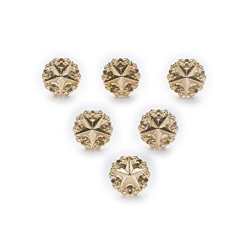 BarFeer 10Pcs Star Gold Metal Shank Buttons Shirt Clothing Sewing Decor Replace Sewing Garment Supplies Accessory 10Mm