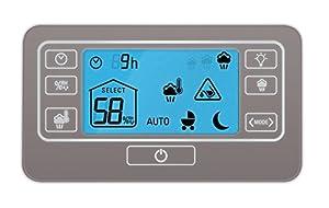 Rowenta HU5120 Intense Aqua Control Whole Room Mist Humidifier Ultrasonic Technology with Unique Baby Mode, 1.5-Gal, Bronze