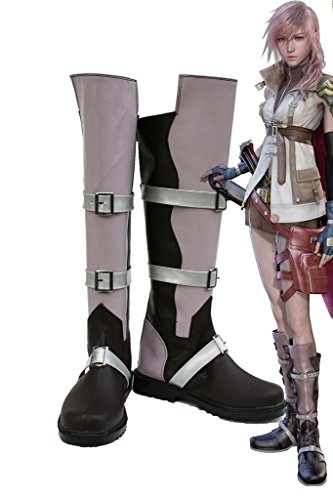 Final Fantasy XIII FF13 Lightning Cosplay Shoes Boots Custom Made