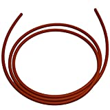 .275'' (1/4'' Nominal, 7 mm) Silicone O-Ring Cord Stock, 70A Durometer, 0.275'' Thickness, 10' Piece, Red