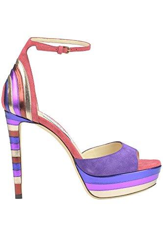 JIMMY CHOO Sandali Donna MCGLCAT03018E Camoscio Multicolor