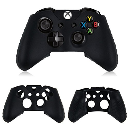 Price comparison product image DZT1968 Washable Anti-slip Silica gel Case For Xbox One Wireless Controller (black)