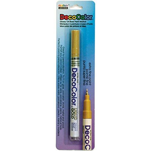 Uchida 120-C-GLD Marvy Deco Color Liquid Extra Fine Paint Marker, - Porcelain Deco