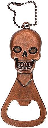Clásico personalidad Abridores de botellas - Botella portátil Accesorios de cocina de cobre retro de la cabeza del cráneo Gadgets Esqueleto abridor for Bar llavero cerveza abridor práctica sacacorchos