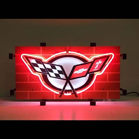 Neonetics 5CORC5 Car and Motorcycles Corvette C5 Neon Sign - Motorcycles Neon Clock