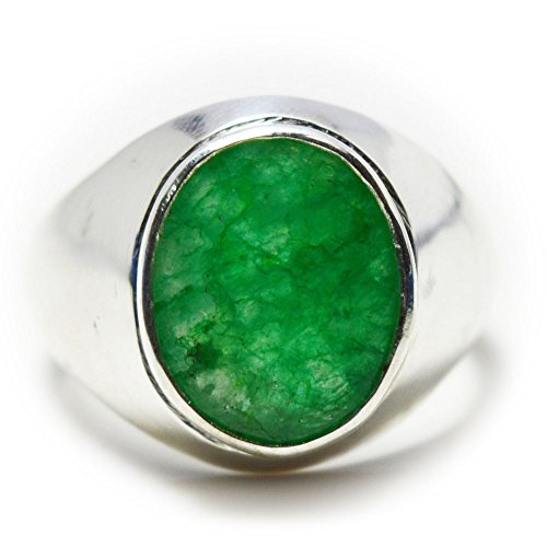 - CHOOSE YOUR COLOR Natural Gemstone Chakra Healing Ring Sterling Silver 5 Carat Handmade For Men Size 5-13