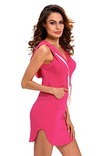 Pinkyee - Vestido - para mujer rosa (b)