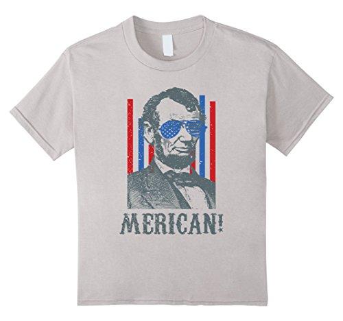 Kids MERICAN! Abraham Lincoln Sunglasses 4TH Of July Tshirt 4 - Sunglasses Lincoln
