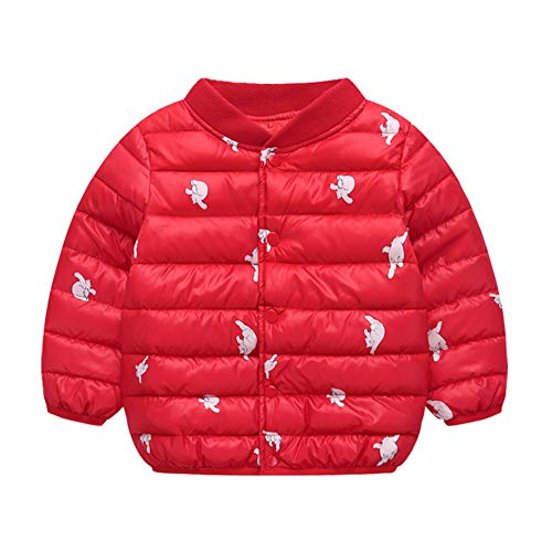Warm Outwear Winter Baby Cotton Baby Boy Red Fairy Girl Puffer Toddler Jacket Unisex PqfRT0x