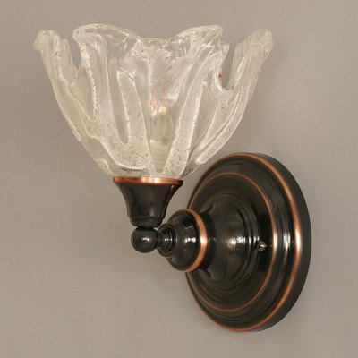 9 in. Wall Sconce w Italian Ice Glass Shade