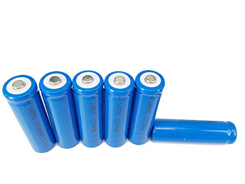 Li Ion Rechargable Battery - ON THE WAY®6Pcs 3.7V 14500 1200mAh Rechargable Li-Ion Batteries