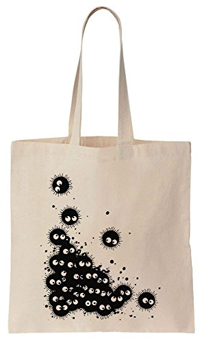 Cotton Canvas Bag Pile Fairies Soot Tote Black Of 0axXqXTI
