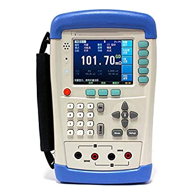 AT518L Hi-accuracy Hand-held DC Resistance Milliohm Meter 4-Terminal Kelvin Tester 10u-200Kohm USB 3.5'' TFT LCD