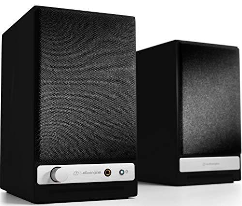 Audioengine HD3 60W Wireless Powered Desktop Speakers, Bluetooth aptX HD, USB 24-Bit DAC & Analog Amplifier (Black) (Best Sounding Wireless Speakers In The World)