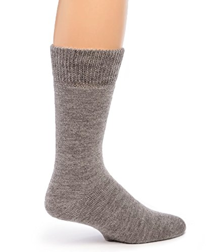 Warrior Alpaca Socks - Women's Outdoor Alpaca Wool Socks, Terry Lined with Comfort Band Opening (Smoke M)